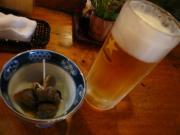 生ビール(中)、お通し
