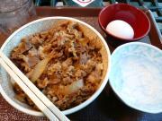 牛丼(並)+生玉子