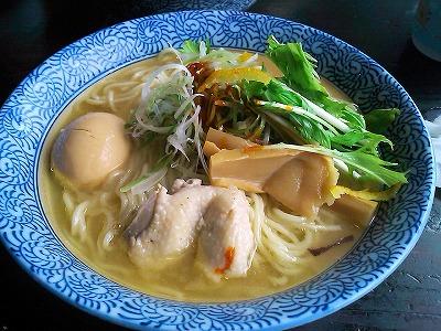 110904味玉鶏塩ラーメン(ガツリ)