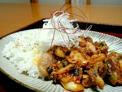 091021豚キムチ丼