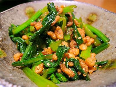 091028小松菜のピリ辛天かす和え