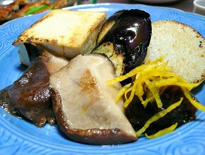 091216お豆腐と野菜のゆずみそのせ