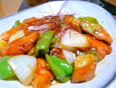 100128鮭と野菜の甘酢あん