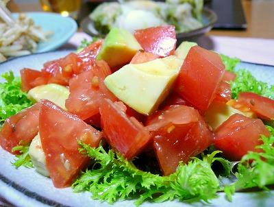 100220トマトとアボカドのサラダ