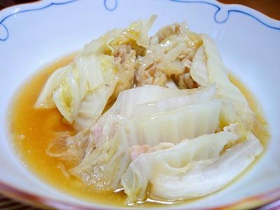 100223白菜と豚肉の蒸し煮