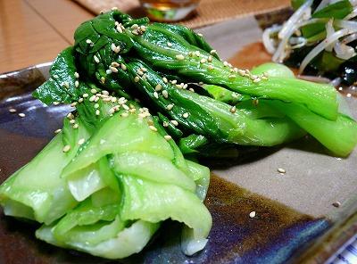 100309青梗菜のナムル