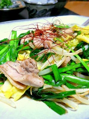 100419鶏肉と野菜の炒め物