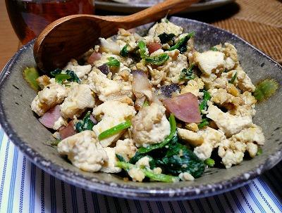 100426スパム入り炒り豆腐