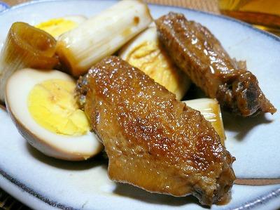 100528手羽と卵の黒酢煮