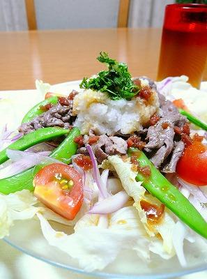 100613牛肉サラダ