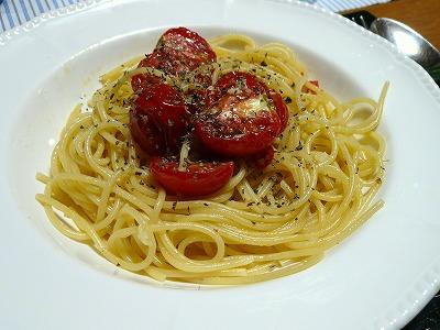 100822ドライトマトのペペロンチーノ