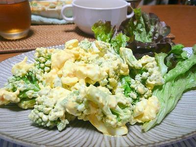 101213ロマネスコと卵のサラダ