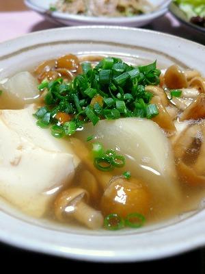 110202お豆腐と蕪の煮物