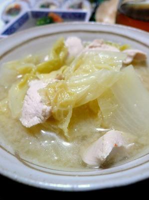 110203白菜とささみのみそ煮