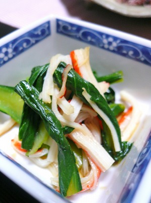 110405小松菜の小鉢