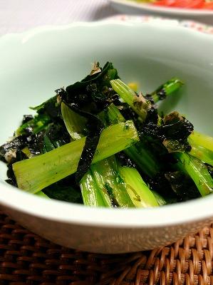 110525小松菜の海苔和え