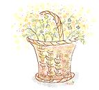 イラスト 花かご