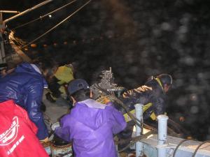 秋鮭漁 2