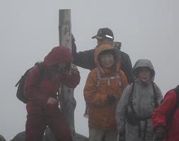 雨の頂上でしたがそれなりに満足が…