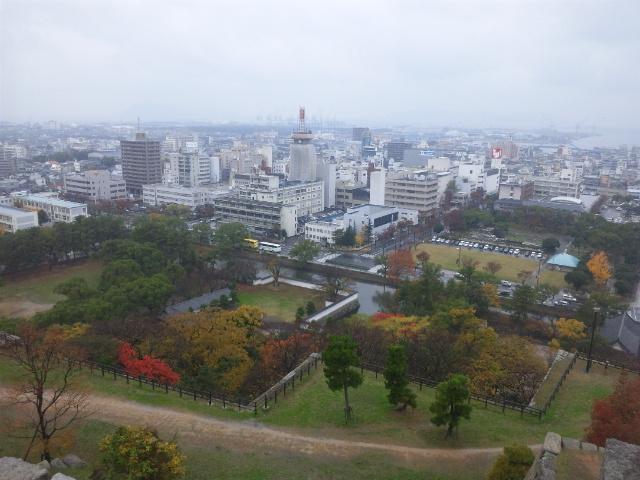 丸亀城天守からの風景