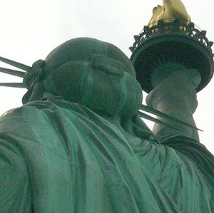 自由の女神の後頭部