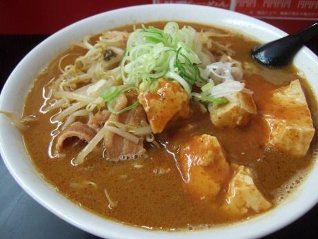 らーめん(味噌+麻婆豆腐)