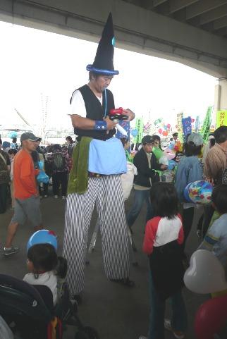 大道芸のジャグリング