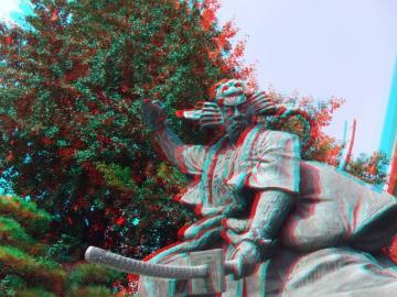 銅像は3Dに良い被写体