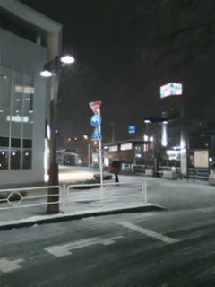 雪の北野駅2月1日