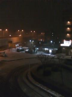 雪の北野駅南口 2月1日