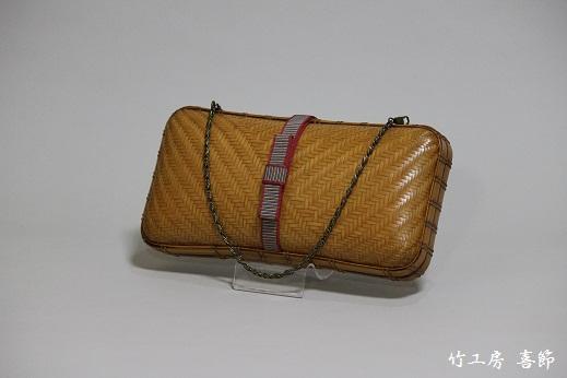 竹クラッチバッグ-大-/竹工房 喜節