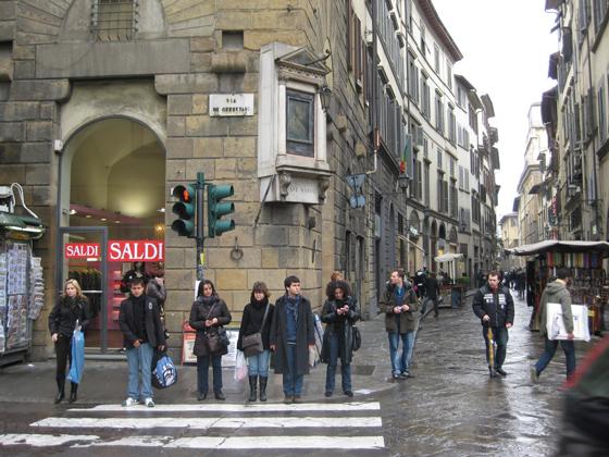 フィレンツェの横断歩道
