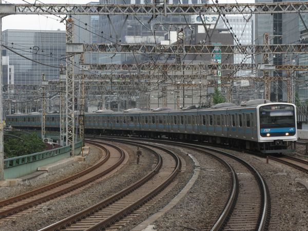 京浜東北・根岸線時代の209系0番台。2006年9月8日、有楽町駅で撮影。