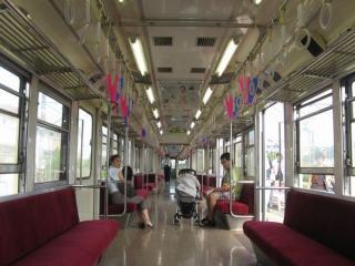 銚子電鉄2000形の車内