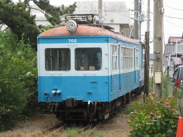 廃車となるデハ702。