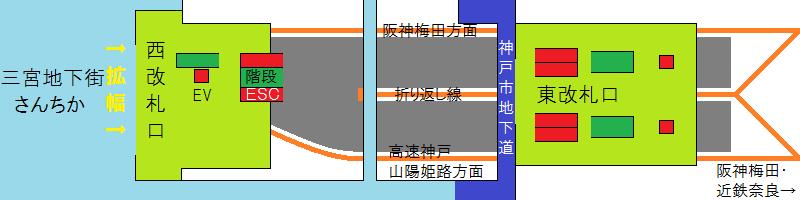 改良後の阪神三宮駅