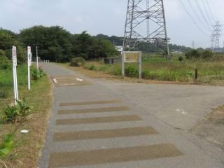 神場公園との分岐点。貸し自転車はここで折り返しとなる。
