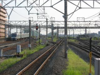 前回訪問時に取手駅(3・4番線ホーム)から上野方を見たところ。工事の状況はまだ確認できない。