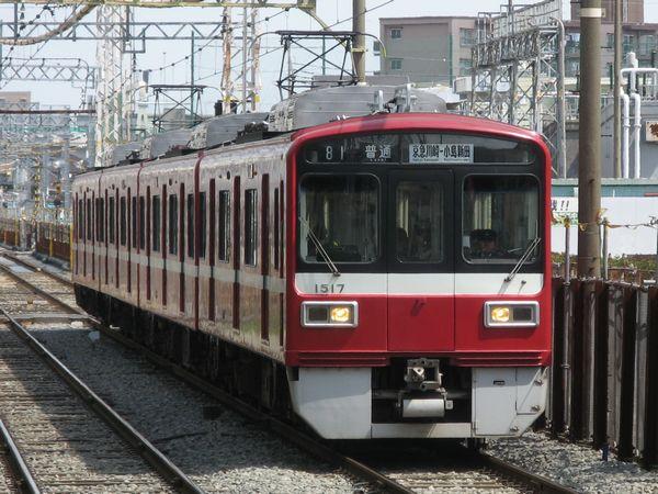 京急1500形。2010年4月3日、大師線東門前駅で撮影。