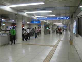 京橋方にある東改札口。