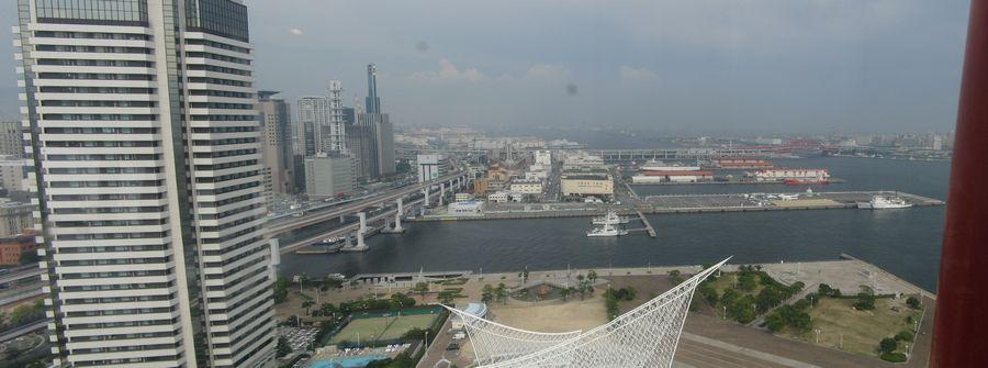 神戸ポートタワー展望4・5階からの風景(東)