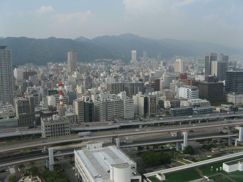 神戸ポートタワー展望4・5階からの風景(北)