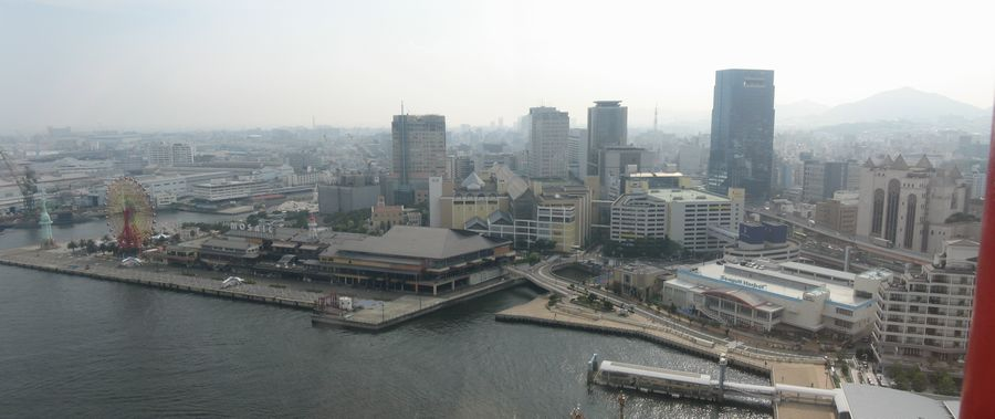 神戸ポートタワー展望4・5階からの風景(西)