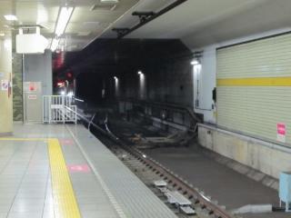 千川駅ホーム端から小竹向原方を見る(A線側)