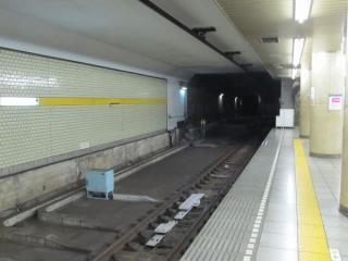 千川駅ホーム端から小竹向原方を見る(B線側)