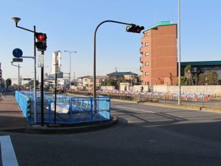 要町通りのアンダーパス手前にある小竹向原寄りの開削部分。