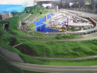 解説が名物となっていた鉄道模型のジオラマ(2006,02,25)