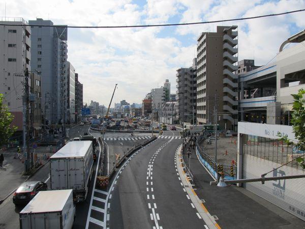 アンダーパスの工事が本格化した第一京浜