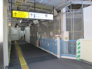 今回(2011年1月)訪問時の同地点。トンネルへ向かう通路が見えるようになった。