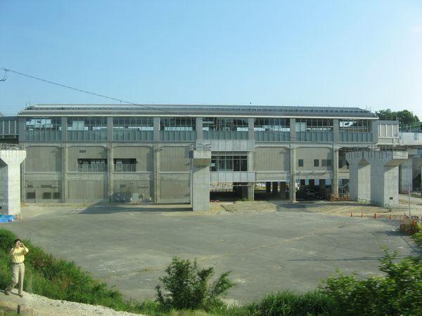 JR成田線の車内から見た成田湯川駅